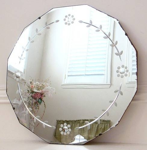 Inspiration about 96 Best Vintage Etched Mirrors Images On Pinterest | Venetian In Round Art Deco Mirrors (#25 of 30)