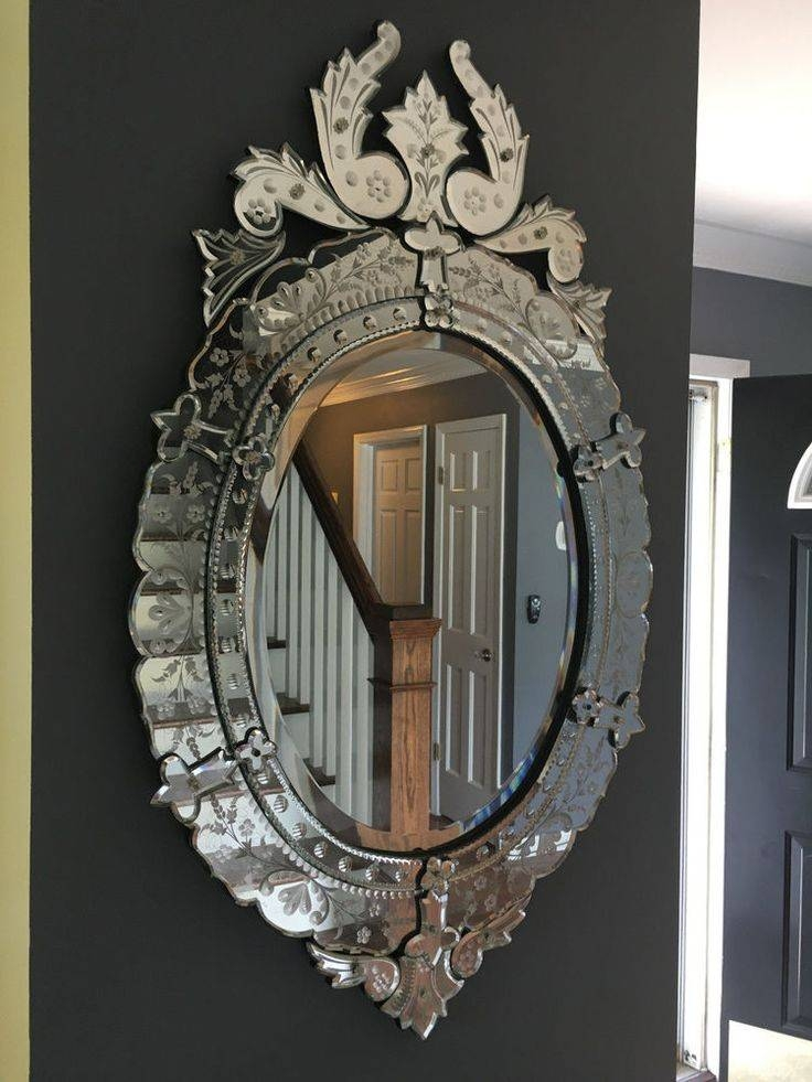 96 Best Vintage Etched Mirrors Images On Pinterest | Venetian With Venetian Etched Glass Mirrors (View 6 of 20)