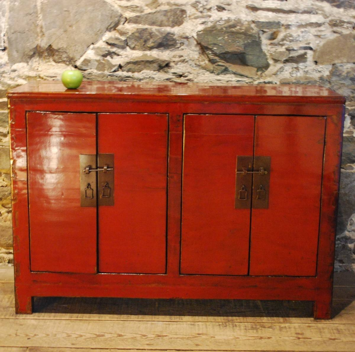 Inspiration about 97022 Striking Red And Black Lacquered Antique Chinese Sideboard Within Chinese Sideboards (#6 of 20)