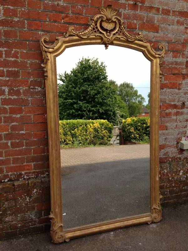 A Fabulous Large Early Antique 19Th Century French Carved Wood And Intended For Large Gilt Mirrors (#2 of 20)