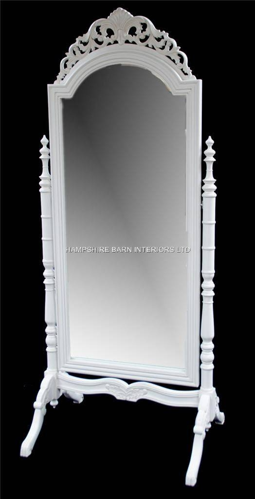 A French Chateau Style Ornate Cheval Dressing Long Mirror In Within Antique Long Mirrors (#1 of 20)