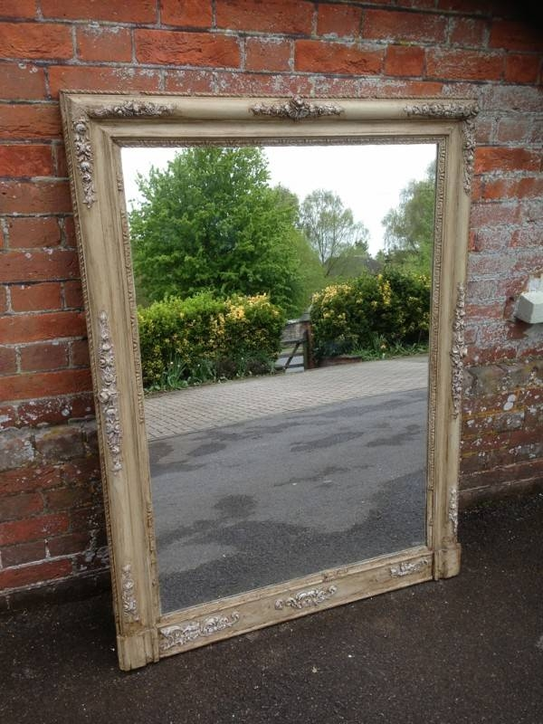 A Highly Decorative Large Antique 19Th Century French Carved Wood Pertaining To Large Antiqued Mirrors (#4 of 20)