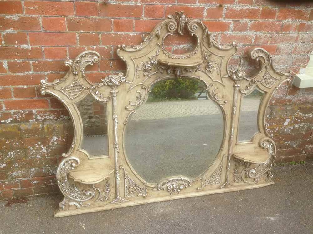 A Highly Unusual Large Antique 19Th Century French Carved Wood In Large French Mirrors (View 11 of 20)