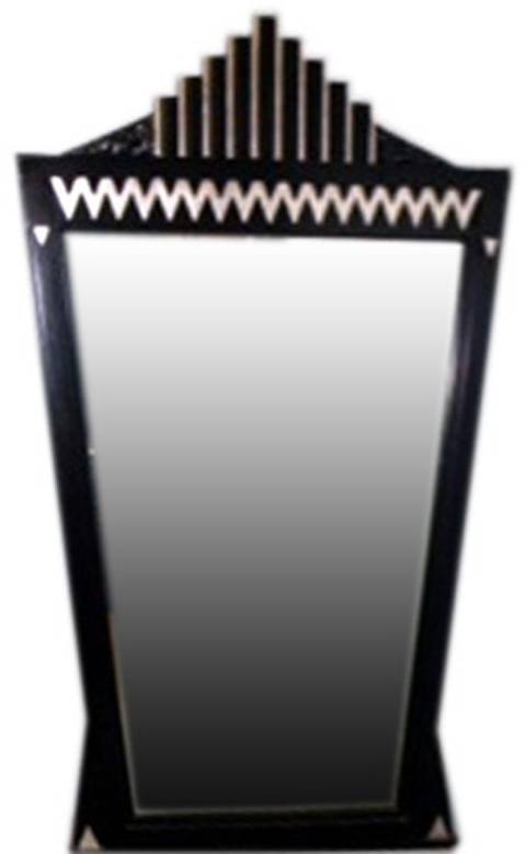 A Large American Art Deco Theater Skyscraper Style Mirror | Modernism Throughout Art Deco Style Mirrors (#4 of 20)