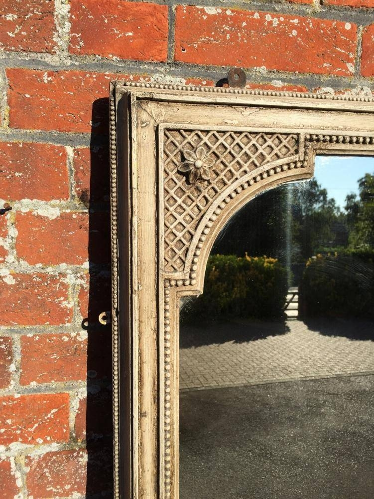 A Large Antique 19Th Century French Carved Wood And Gesso Painted Inside Wooden Overmantle Mirrors (#3 of 30)