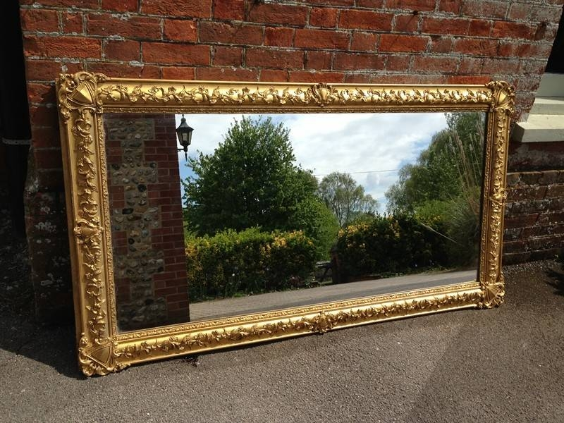 A Large Antique French Highly Decorative Impressive Carved Wood Regarding Gilt Mirrors (View 6 of 20)