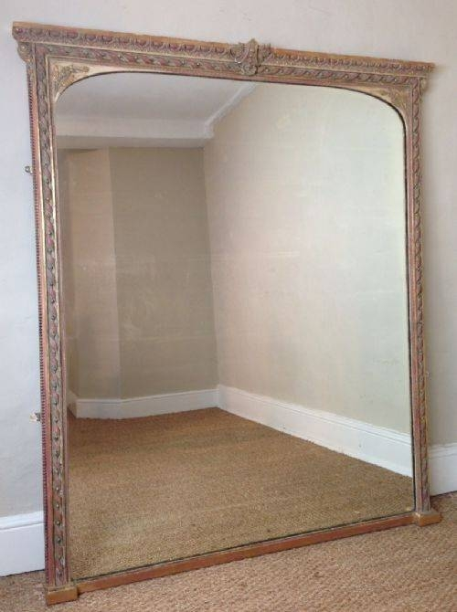 A Large Victorian Gilt Over Mantel Mirror C 1870 | 274677 For Large Mantel Mirrors (#6 of 30)