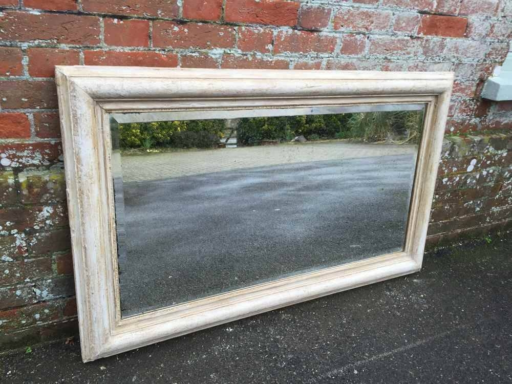 A Plain Antique 19Th Century French Carved Wood & Gesso Distressed For Distressed Cream Mirrors (#8 of 30)