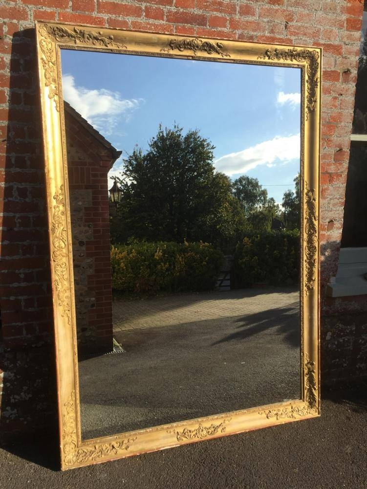 A Stunning Highly Unusual Extra Large Early Antique 19Th Century In Unusual Large Mirrors (#5 of 20)