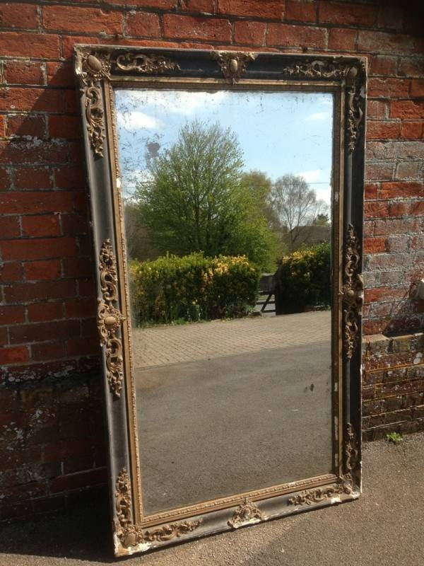 A Stunning Large Highly Decorative Antique 19Th Century Original For Black Antique Mirrors (#9 of 30)