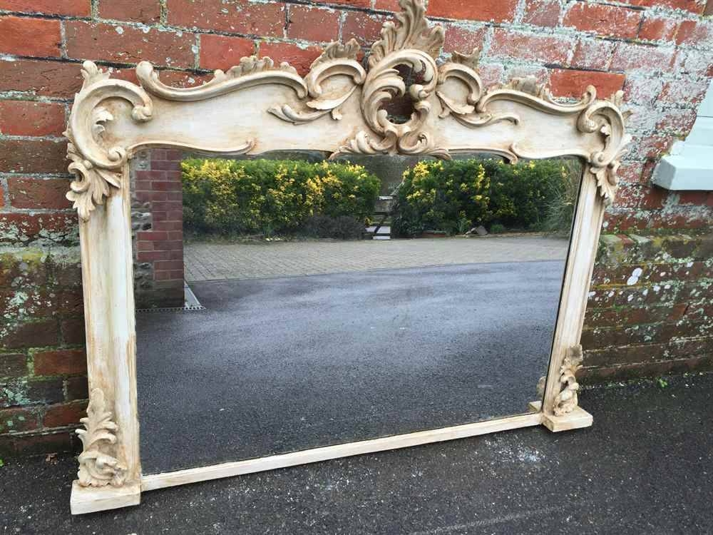 A Stunning Unusual & Very Useful Size Antique 19Th Century French For Wooden Overmantle Mirrors (#7 of 30)