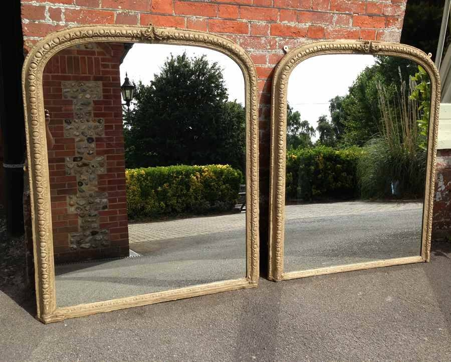 A Very Useful And Unusual Pair Of Large Antique French 19Th Intended For Large Antique Mirrors (#7 of 30)