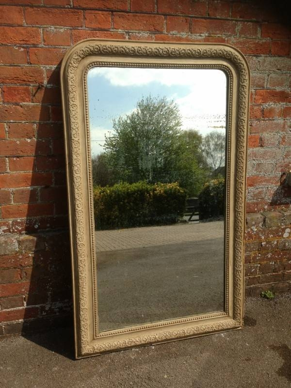 A Very Useful Large Size French Antique 19Th Century Arched Top Within Antique Large Mirrors (#8 of 20)