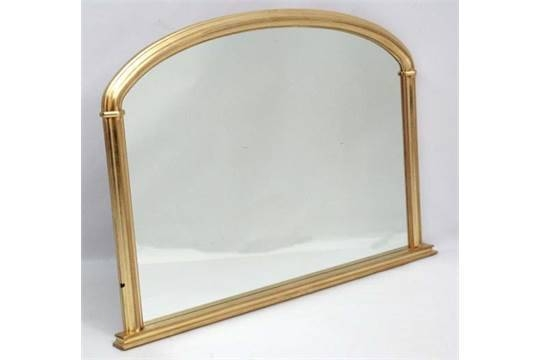 A Victorian Style Morris Mirrors Gilt Framed Overmantle Mirror, 34 In Gilt Edged Mirrors (#4 of 20)
