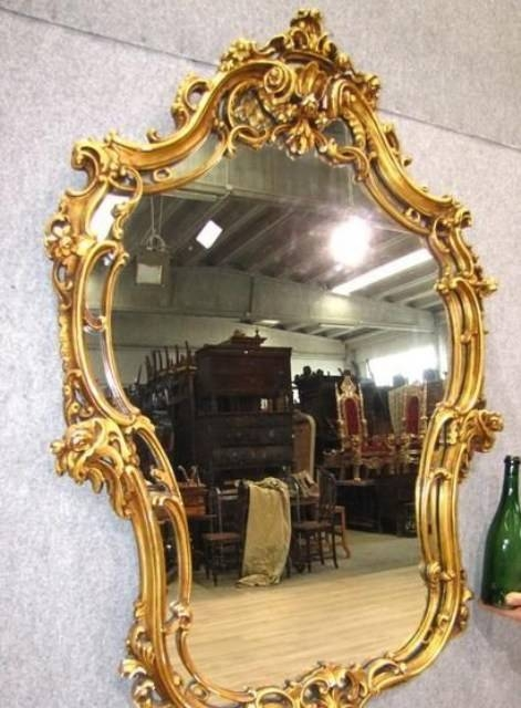 A274 – Italian Antique Gilded Mirror, Circa 1920 For Sale With Regard To Antique Gilded Mirrors (View 16 of 20)