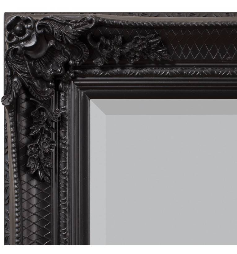Abbey French Ornate Leaner Mirror Black Gold Silver Cream Inside Large Black Ornate Mirrors (View 6 of 30)