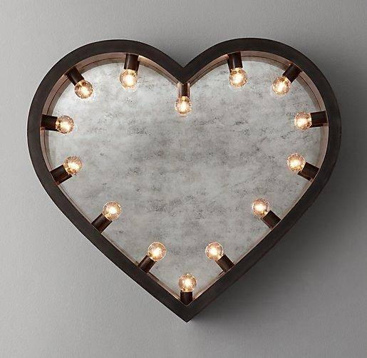Abbyson Living Heart Shaped Silver Wall Mirror Inside Heart Shaped Mirrors For Wall (#6 of 20)