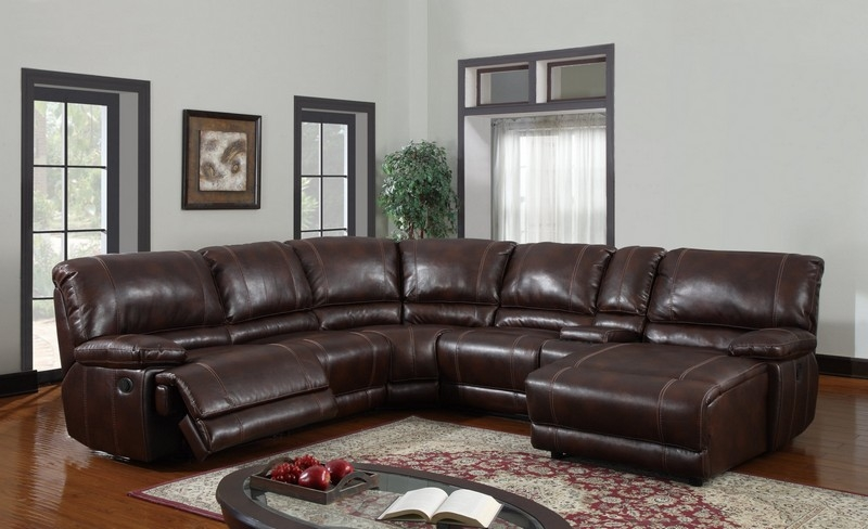 Above Is A Brown Leather Sectional Sofa With Vintage Look S3net In Vintage Leather Sectional Sofas (#1 of 15)