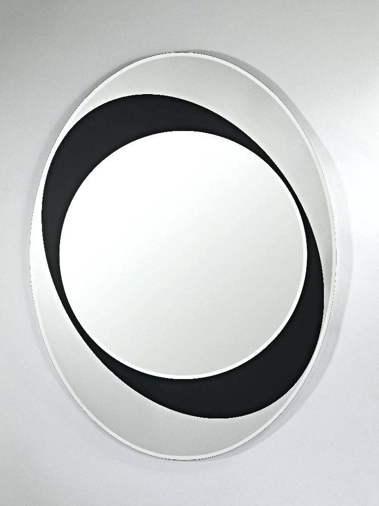 Accent Baroque Oval Wall Mirrorblack Mirrors Uk Black Mirror With With Regard To Black Oval Wall Mirrors (View 10 of 20)