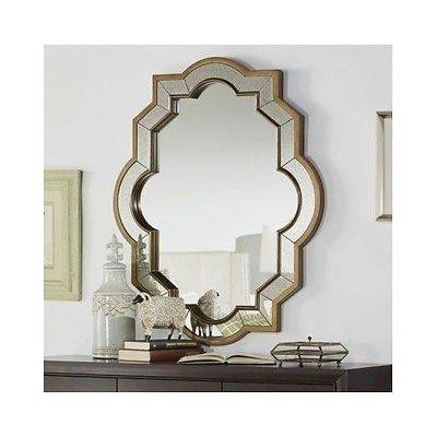 Accent Wall Mirror Paisley Large Oval Ornamental Design Hanging With Large Oval Wall Mirrors (#6 of 30)