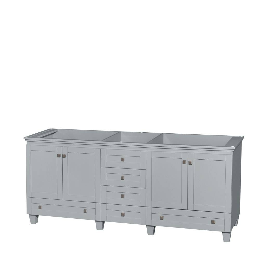 Accmilan 80 Inch Double Sink Bathroom Vanity In Grey Finish, White Inside 80 Inch Sideboard (#1 of 20)