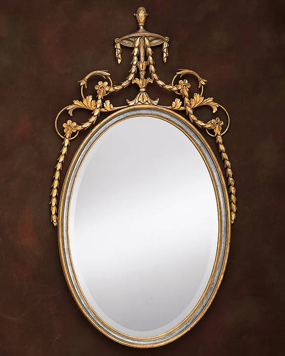 Adam Style Oval Mirror And Decorative Oval Mirror Inside Silver Oval Wall Mirrors (View 19 of 20)