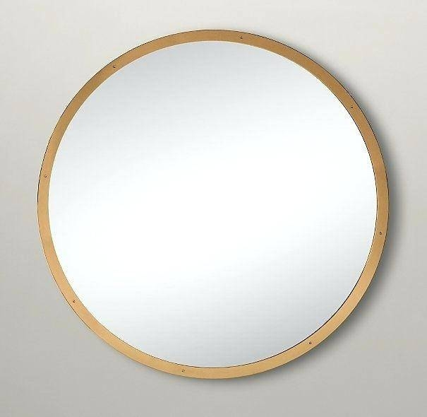 Addlarge Round Mirror Gold Frame Large Uk – Shopwiz Intended For Large Round Metal Mirrors (View 4 of 30)
