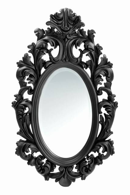 Adele Oval Mirror – Wall Mirrors – Bathroom & Dressing Table Intended For Oval Black Mirrors (#1 of 20)