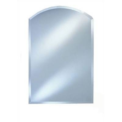 Afina Radiance Arch Top Frameless Wall Mirror & Reviews | Wayfair Regarding Frameless Arched Mirrors (#3 of 20)