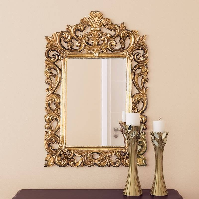 Alcott Hill Antique Gold Wall Mirror & Reviews | Wayfair For Gold Wall Mirrors (#3 of 30)