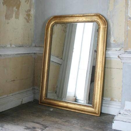 Alesia Gold Mirror With Gold Mantle Mirrors (#9 of 30)