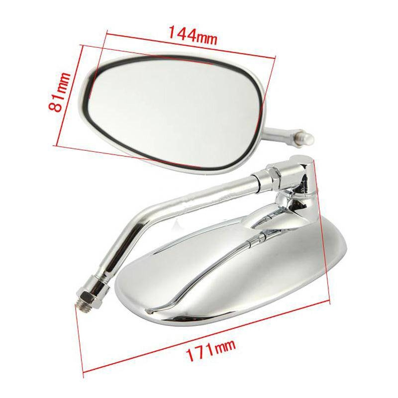 Aliexpress : Buy 2Pcs Chrome Mirrors 10Mm Right Thread For Within Chrome Mirrors (View 17 of 20)