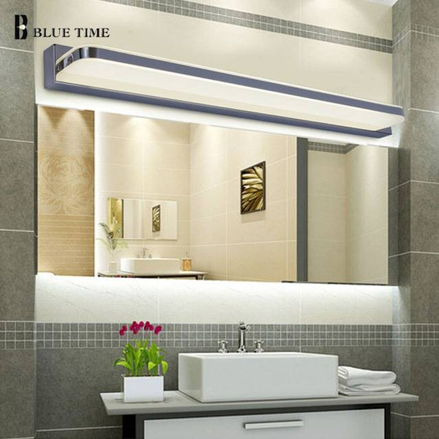 Aliexpress : Buy 45Cm 120Cm Mirror Light Led Bathroom Wall Intended For Wall Light Mirrors (View 25 of 30)