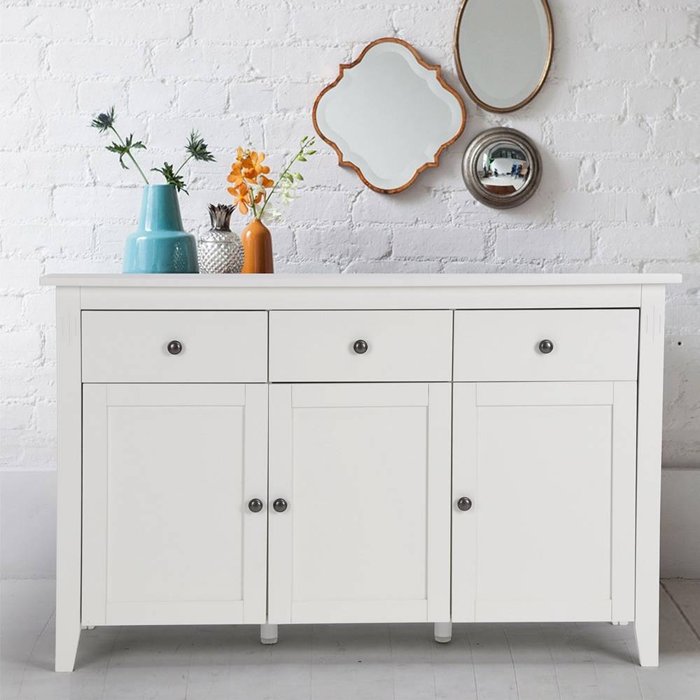 Aliexpress : Buy Aingoo Large Space White Minimalist Modern Regarding Large White Sideboard (#1 of 20)