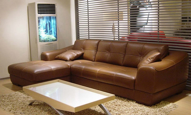 Aliexpress Buy Free Shipping 2013 Euro Modern Design Living For Small Brown Leather Corner Sofas (#1 of 15)