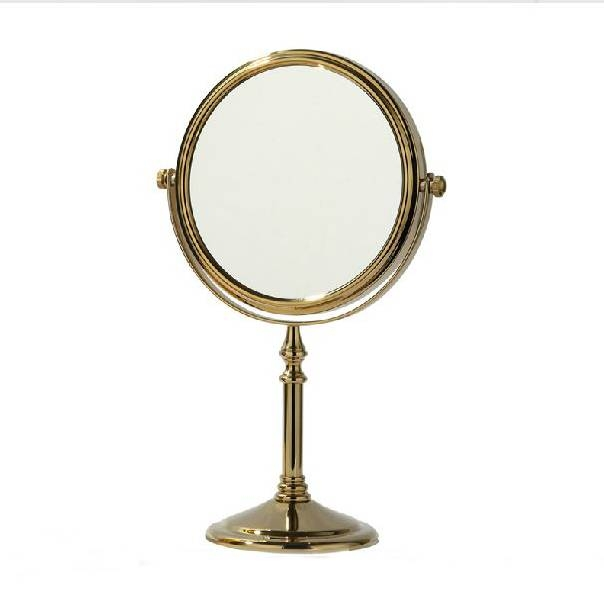 "Aliexpress : Buy Newest 6"" Dual Makeup Mirrors 1:1 And 1:3 Throughout Gold Table Mirrors (View 9 of 20)"