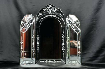 All Glass Dressing Table Mirrorplain Venetian Triple Mirror Cheap With Venetian Dressing Table Mirrors (#6 of 30)