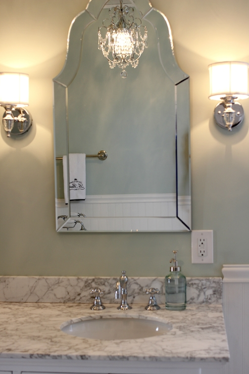 Allen + Roth Hovan Arch Frameless Mirror – Traditional – Bathroom For Frameless Arched Mirrors (#4 of 20)