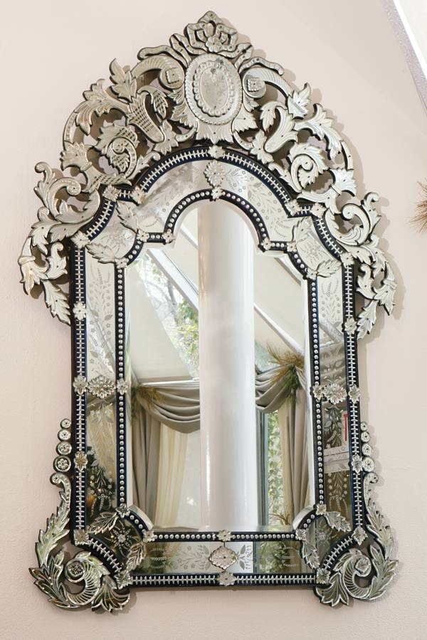 Alluring Antique Wall Mirrors Made From Gold Color Metal Frame Throughout Venetian Antique Mirrors (View 8 of 20)