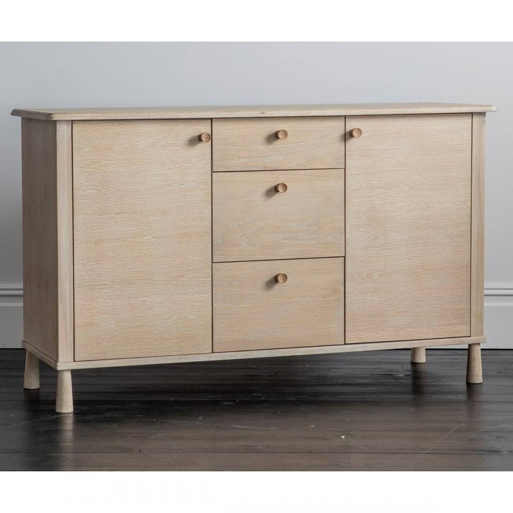 Alpine Contemporary Oak Sideboard | Wooden Sideboards & Buffets With Regard To Contemporary Oak Sideboard (View 6 of 20)