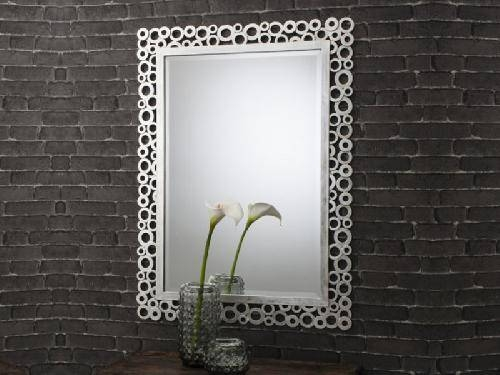 Amalfi Rectangular Mirror Silver,decorative,modern,contemporary Within Modern Silver Mirrors (#3 of 20)