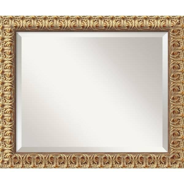 amanti art florentine gold wall mirror u0026 reviews wayfair regarding gold wall mirrors