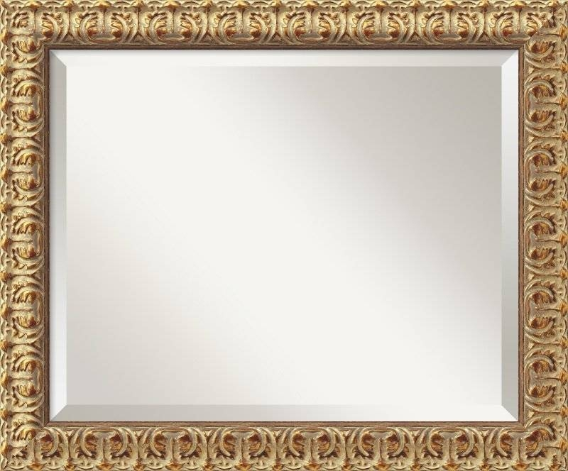 Amanti Art Florentine Gold Wall Mirror & Reviews | Wayfair With Regard To Gold Wall Mirrors (#6 of 30)