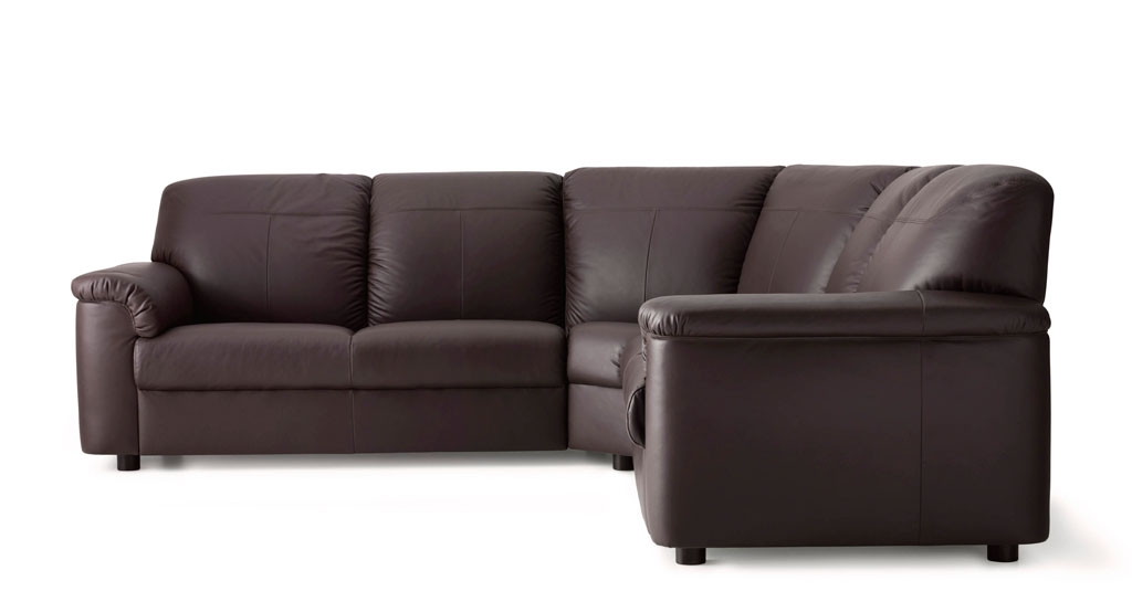 Amazing Leather Corner Sofa Black Leather Corner Sofa Interiorvues Intended For Small Brown Leather Corner Sofas (#2 of 15)
