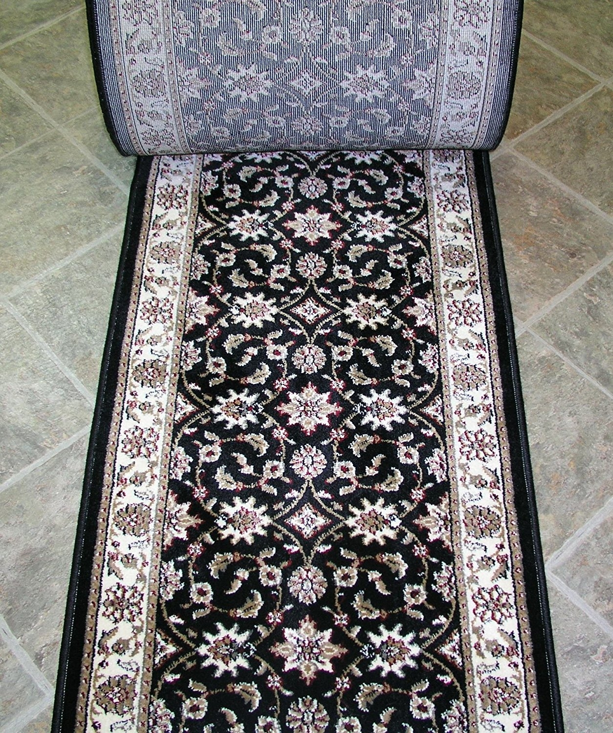 Amazon 140550 26 Wide Stair Runner Rug Depot Traditional With Wide Hallway Runners (View 2 of 20)