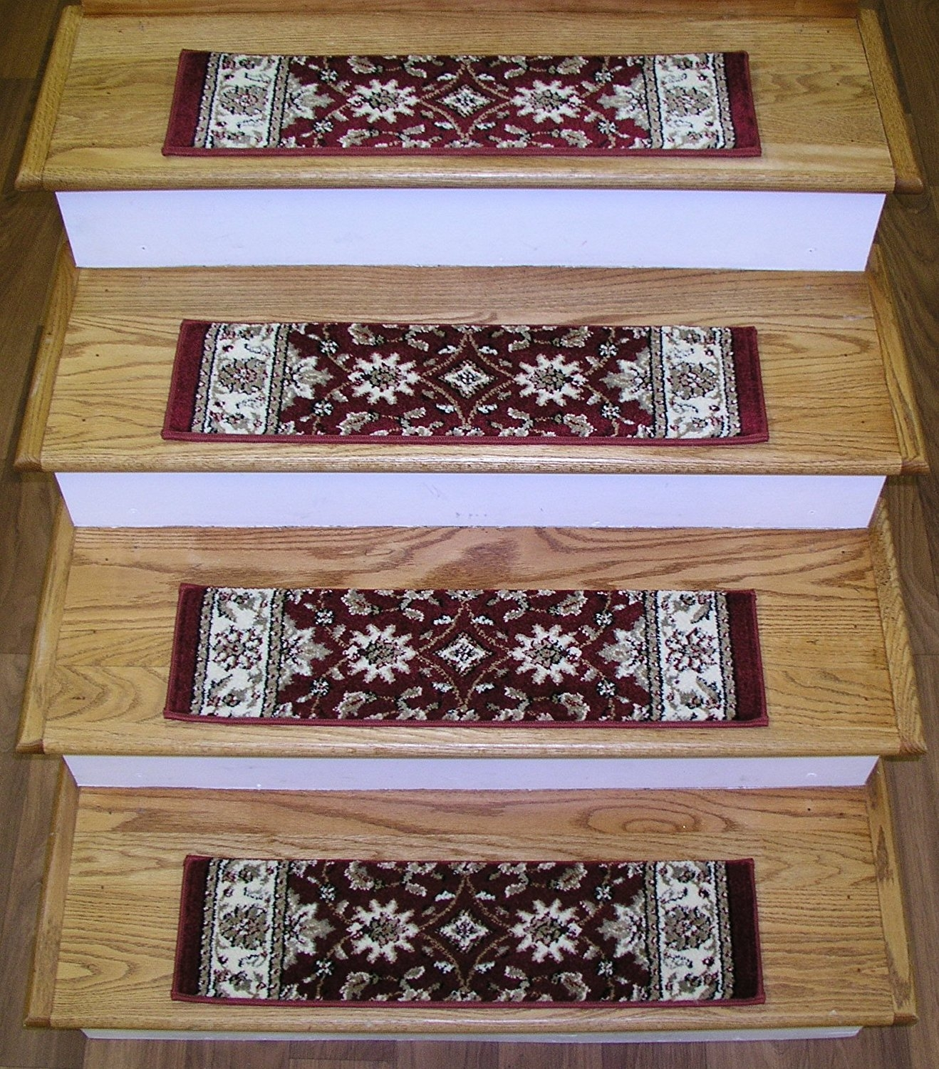 Amazon 891004 Rug Depot Premium Carpet Stair Treads Set Inside Carpet Stair Treads And Rugs 9× (View 10 of 20)