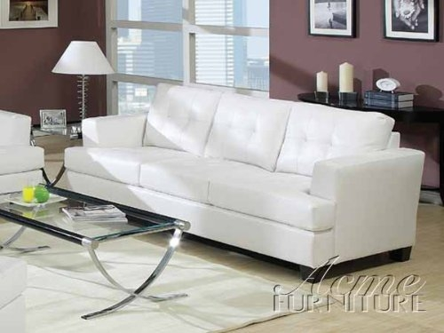 Popular Photo of Off White Leather Sofa And Loveseat