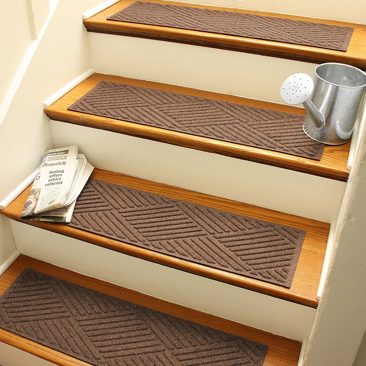 Amazon Aqua Shield Diamonds Stair Treads 85 30 Inch Within Stair Tread Carpet Covers (#1 of 20)