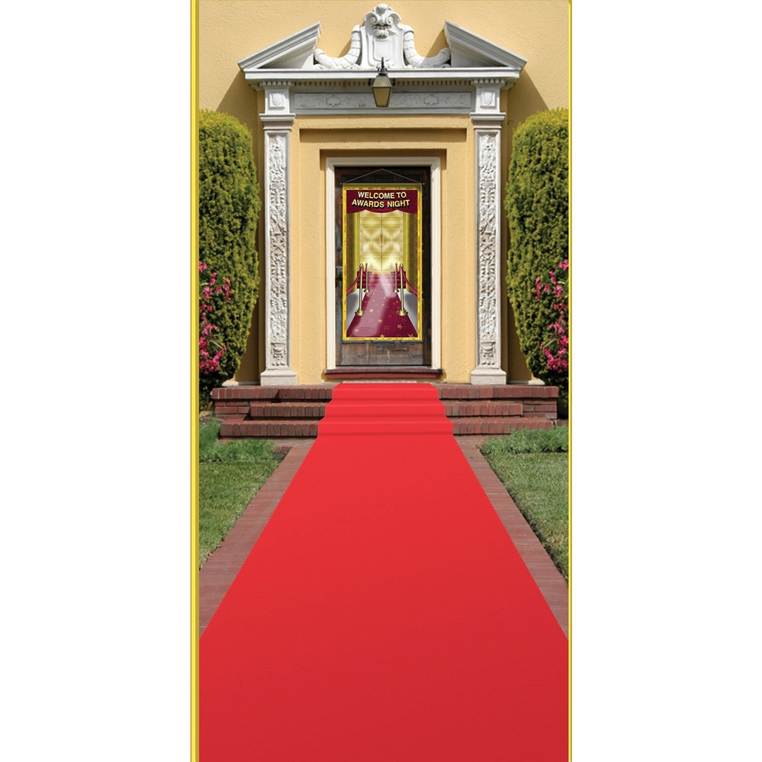 Amazon Beistle Carpet Runner 24in 15 Ft Red Kitchen Intended For Red Runner Rugs For Hallway (#2 of 20)