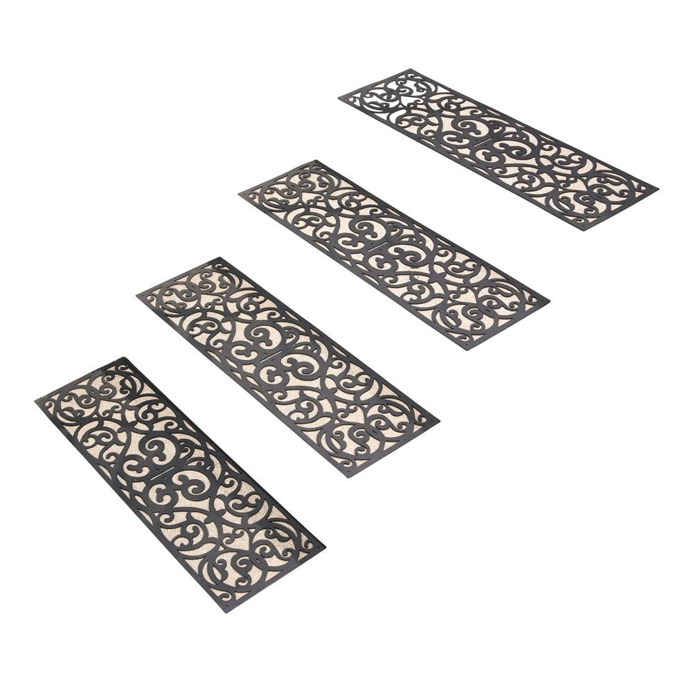 Amazon Butterfly Stair Traction Treads Set Of 4 Black Within Traction Pads For Stairs (View 13 of 20)